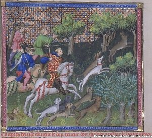 From the Book of Hunt, Phoebus, 15th Century